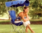 Original canopy chair blue